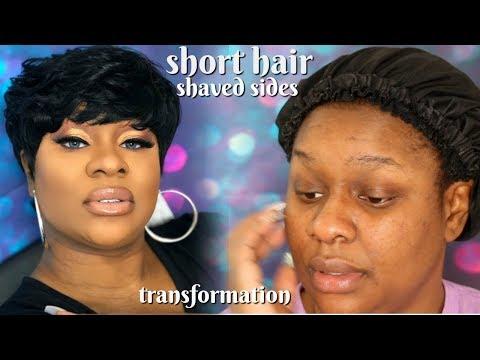 Short hair styles - SHORT HAIR TRANSFORMATION