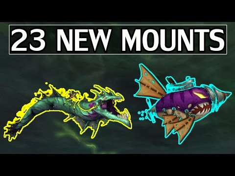 The 23 New Mounts of 7.2 & How to Get (Most) of Them - WoW Legion (видео)