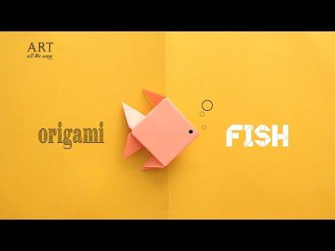 Diy Simple Origami Fish Paper Craft Tutorial