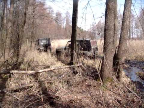 Четыре Уаза и газон в Таврово 06.04.2014 (видео)