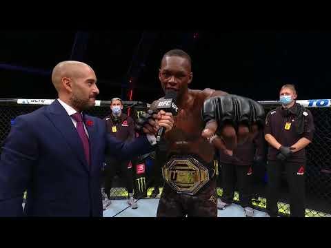 UFC 253: Israel Adesanya Octagon Interview   Improves to 20-0