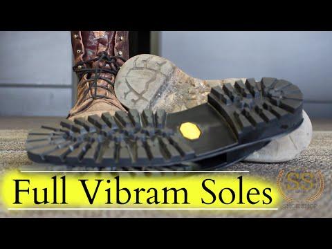 Work Boots Full Restoration ** Full Vibram Soles**