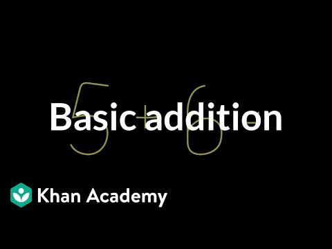basic addition arithmetic video khan academy
