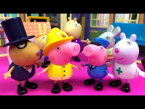PEPPA PIG  Y SUS AMIGOS DECIDEN QUE QUIEREN SER DE MAYORES