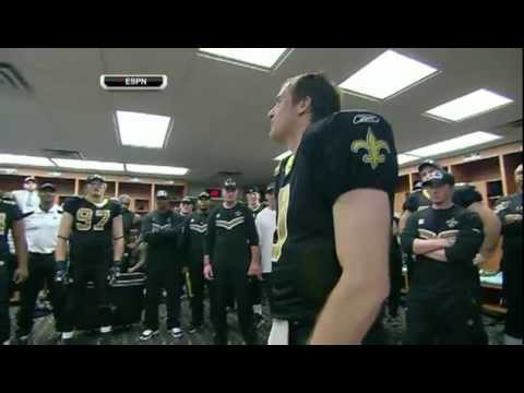 brees - After Drew Brees broke Dan Marino's record for most passing yards in a season, ESPN captured the locker room speech he gave to his teammates. It is one of th...