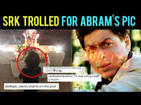 Shah Rukh Khan TROLLED For AbRam Worshipping Lord