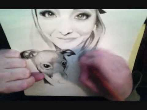 Speed drawing of Jenna Marbles (Mourey) & Kermit (видео)