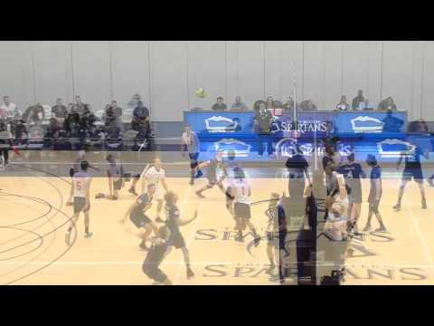 2014-10-10 TWU Men's Volleyball Highlights vs TRU