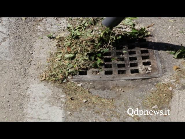 Vittorio Veneto - Presentazione del nuovo macchinario Savno per pulire le caditoie