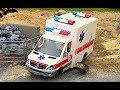 CRASH Ambulance the wheel broke! Emergency   BRUDER TOYS  