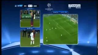 ردة فعل رونالدو بعد هدف ميسي الثاني على ريال مدريد