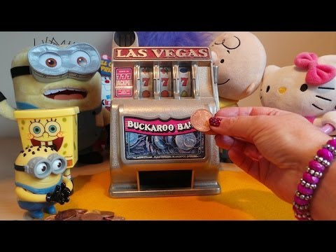 777 JACKPOT ON LAS VEGAS BUCKAROO CLOCKWORK TOY SLOT MACHINE