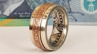 Video Making a Spinner Ring from Two Coins MP3, 3GP, MP4, WEBM, AVI, FLV Desember 2018