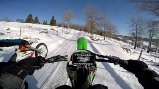 8. KTM EXC 300 Six Days vs. Kawasaki KX450F - WInter | GoPro Hero