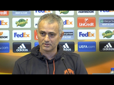 Jose Mourinho Full Pre-Match Press Conference - St-Etienne v Manchester United - Europa League (видео)