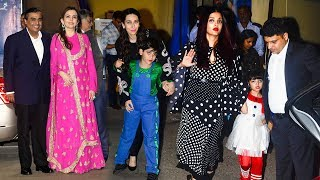 image of Bollywood Celebs With Kids At Their School Ambani International Annual Day 2017 -Aishwarya,Aaradhya