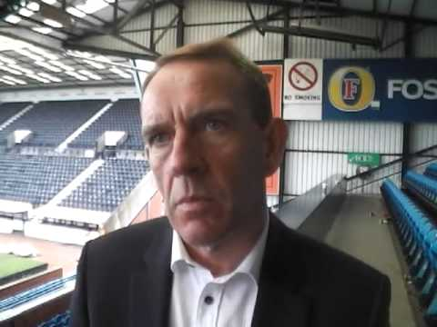 Kenny Shiels - Kilmarnock manager Kenny Shiels speaking after their 3-1 defeat to Celtic st Rugby Park in the SPL.