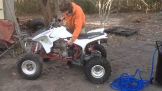 9. 07 TRX450ER start and ride