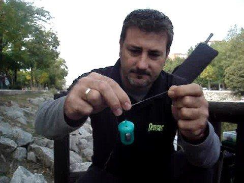 Pesca con cebador (feeder), montajes.