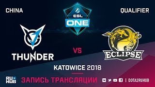 VGJ Thunder vs Eclipse, ESL One Katowice CN, game 1 [Mortalles]