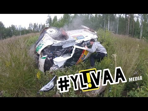 NESTE RALLY FINLAND 2017 | 15 CRASHES | SPECTATOR HEAD CAM