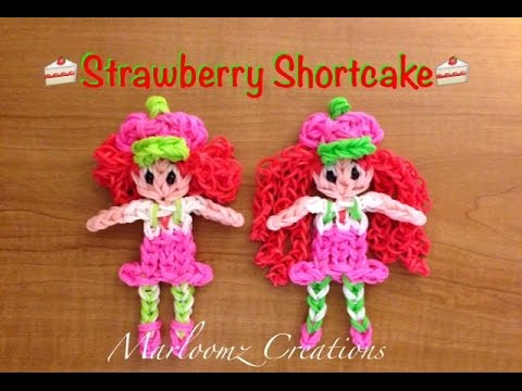 updated - Rainbow Loom Strawberry Shortcake - Updated Marloomz Creations Can be made on a Rainbow Loom, Crazy loom, Twist n loop and Wonder loom. Please Subscribe To My Channel▻ https://www.youtube.com/u...