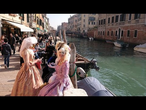 Venedig: Maskenball und Karnevalstreiben sowie Eintri ...