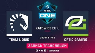 Liquid vs OpTic, ESL One Katowice, game 1 [GodHunt, Jam]
