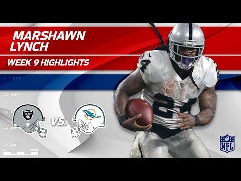 Video: Marshawn Lynch's Strong Night w/ 2 TDs vs. Miami! | Raiders vs. Dolphins | Wk 9 Player Highlights
