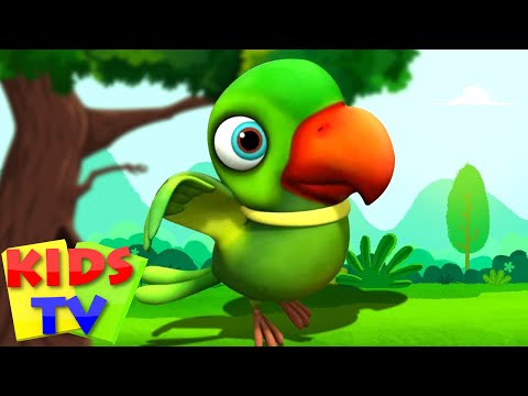 Main Tota Hare Rang Ka | मैं तोता मैं तोता | Hindi Kids Rhymes By Kids TV