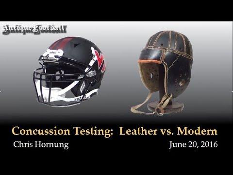 Football Helmet Concussion Testing: Leather vs. Modern
