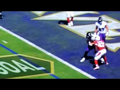 Ravens vs cardinals Lamar Jackson 7 thrown TD