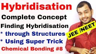 Chemical Bonding 08 | Hybridisation | How to Find Hybridisation | Hybridisation of Atom IIT JEE NEET