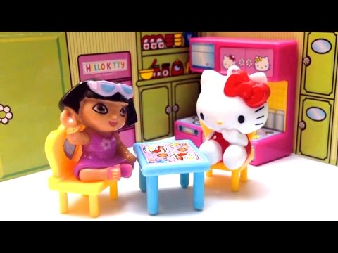 toys - Beautiful Hello Kitty Peppa Pig Dora The Explorer Dollhouse Unboxing Toys Review ✿◕ ‿ ◕✿ You can also check out my Play-Doh kits playlist, amazing playsets that you can prepare delicious...