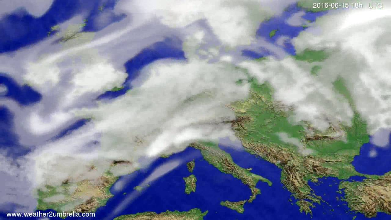 Cloud forecast Europe 2016-06-12