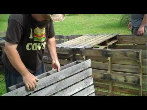 beds - How to make raised beds out of free wood pallets. IMPORTANT NOTE: If you aren't using a perforated liner, or something that allows water to drain, you'll nee...