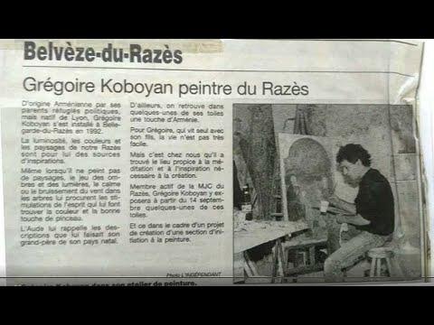 vernissage de mon expo.de peintures à la M.J.C de Belvèze Du Razès en1996