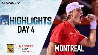 Watch Thursday highlights from the Coupe Rogers, featuring Denis Shapovalov, Rafael Nadal, Roger Federer, David Ferrer, Nick...
