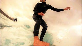 Surfing in La Santa, Northwest of Lanzarote, Canary Islands in March 2016. Enjoy :)