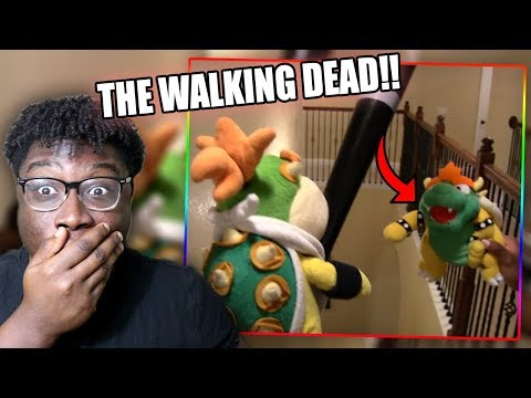 BOWSER JR. FIGHTS OFF THE ZOMBIE APOCALYPSE!   SML Short: Zombie Bowser Reaction!