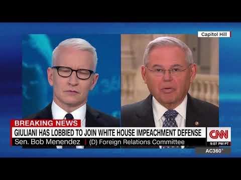 Menendez Talks Upcoming Senate Impeachment Trial with Anderson Cooper