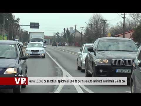 Peste 10.000 de sancțiuni aplicate și 560 de permise auto reținute în ultimele 24 de ore