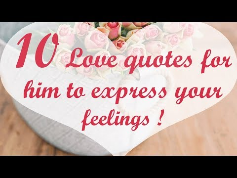 Thank you quotes - 10 Love quotes for him to express your feelings