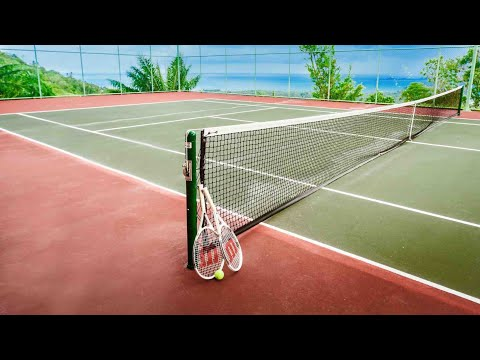 Best tennis club at the Costa Blanca, in Spain, in Villajoyosa Club de Tennis, near Benidorm