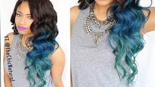 HOW TO: Mermaid Hair Color DIY! - YouTube