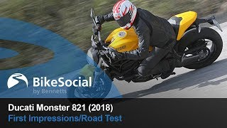 8. Ducati Monster 821 (2018) - First Impressions/Road Test | BikeSocial