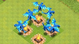 "ALL ELECTRIC DRAGON RAID "" Clash Of Clans"" NEW UPDATE"