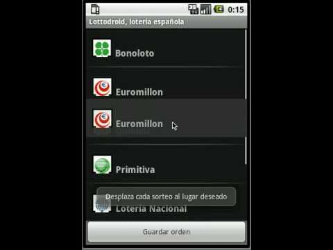 Video of Lottodroid loterias y apuestas