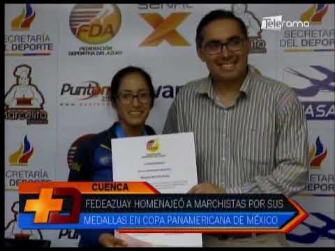 Fedeazuay homenajeó a marchistas por sus medallas en copa Panamericana de México