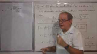 Algebra Intermedia - Lección 36 - A (la Fórmula Cuadrática)